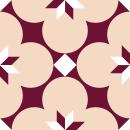 Motif Carrelage Fleur - Autocollant meuble