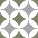Motif Carrelage Grandrond - Autocollant meuble