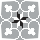 Motif Carrelage GrandTrefle - Autocollant meuble