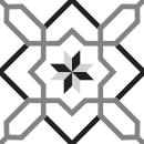 Motif Carrelage Rosedesvents - Autocollant meuble