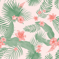 Style Tropical - Autocollant meuble